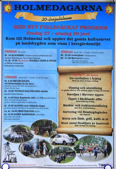 27-29 juni 2015 - I Holmedal arrangerades Holmedagarna.