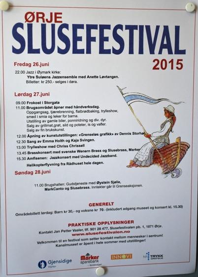 26-28 juni 2015 - Och i Örje var det Slusefestival.