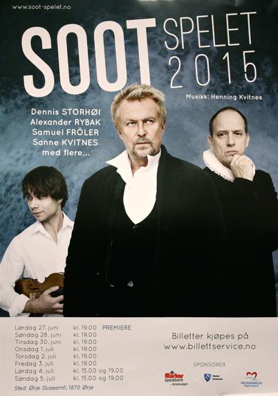 27 juni - 5 juli  2015 - I Örje kunde man se SOOT-spelet.