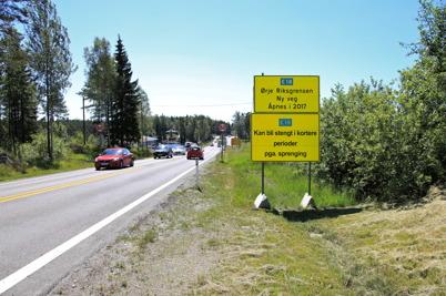 2 juli 2015 - Uppe vid Riksgränsen var bygget av nya E18 i gång.