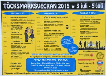 3-5 juli 2015 - Och så var det dags för årets upplaga av Töcksmarksveckan.