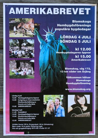 "5 juli 2015 - I Blomskog framförde man spelet ""Amerikabrevet""."