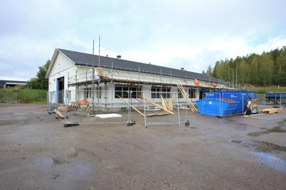 2 september 2015 - Nordic solar bygget gick snabbt framåt.