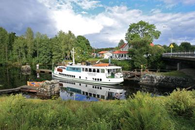 4 september 2015 - Storholmen fortsatte att köra turer med passagerare till Östervallskog.