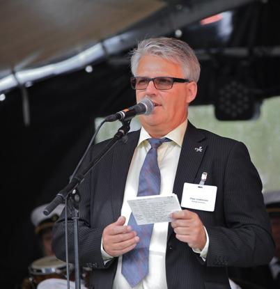 5 september 2015 - Owe Lindström från kommunen presenterade en lång rad talare.