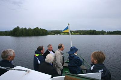 5 september 2015 - Efter en och en halv timmas båtfärd var man framme i Östervallskog.