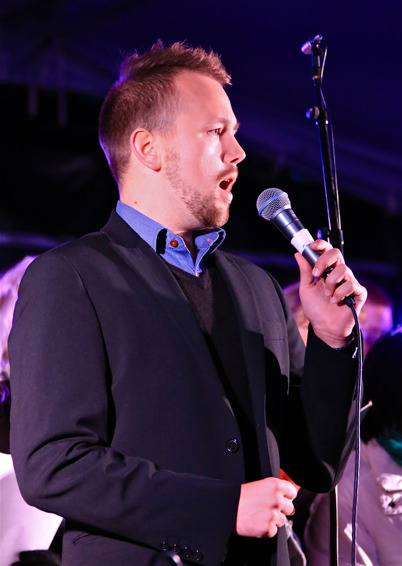 5 september 2015 - Johannes Axelsson bjöd på magnifik sång.