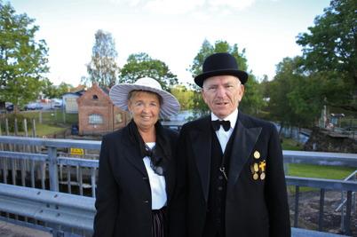 6 september 2015 - En historisk dag var över för Sverre Sanamon ( Nils A Sanamon ) och hans hustru Gerd.
