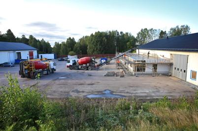 8 september 2015 - Vid Skärmon pågick bygget av Nordic solars nya lokaler.