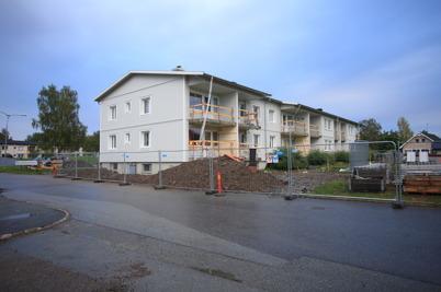 16 september 2015 - Renoveringen av Västra Torggatan 2 i Töcksfors pågick.