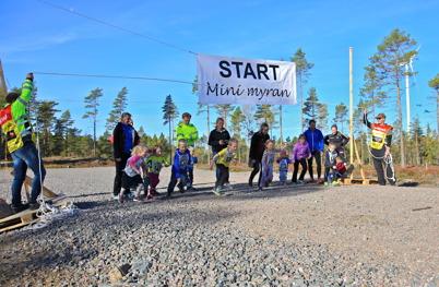 3 oktober 2015 - Så genomfördes första vindkraftsloppet i vindkraftsparken på Mölneruds-höjden i Holmedal.
