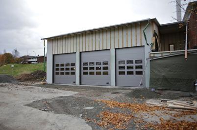 29 oktober 2015 - Byggnationen av Töcksfors nya brandstation fortsatte.