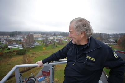 6 november 2015 - Räddningschefen kollade in Töcksfors från räddningstjänstens skylift.