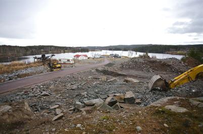 14 november 2015 - På Prästnäset startade bygget av fler villor.