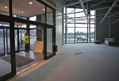 18 november 2015 - Vid Handelsparken startade ombyggnaden för att bereda plats för nya butiken ICA Kvantum.