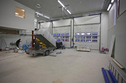 24 november 2015 - Brandstationsbygget i Töcksfors gick framåt.