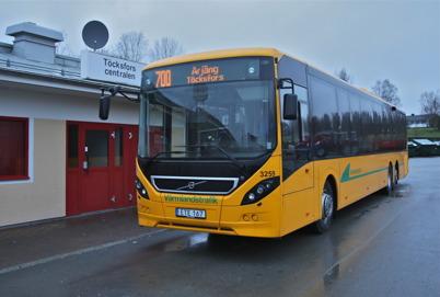 27 november 2015 - Den nya linjebussen på linjen Töcksfors - Karlstad - Töcksfors visade upp sig vid Töcksfors busscentral.
