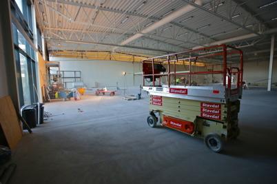 30 november 2015 - Vid Handelsparken pågick ombyggnaden för flytt av RUSTA till ny lokal och etablering av ICA Kvantum.