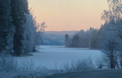 15 december 2015 - Vi kunde njuta av ett vackert vinterlandskap under några dagar.