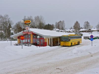26 januari 2010 - Bussen till Karlstad skall strax avgå.