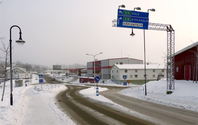 13 januari 2010 - Lågprisvaruhuset Gränslöst som nu är sammanbyggt med gamla järnhandelshuset.