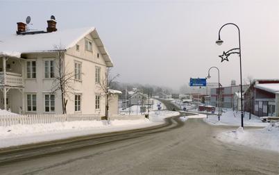 13 januari 2010 - Sveavägen österut mot Shell bensinstation.