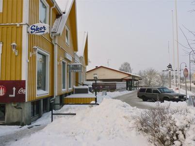 13 januari 2010 - Gamla centrumhuset och Westra Wermlands Sparbank.