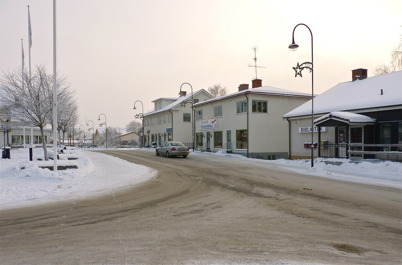 13 januari 2010 - Töcksfors Elektriska och Biblioteket vid Sveavägen.