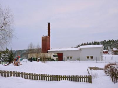 19 januari 2010 - Leverans av träpellets till fjärrvärmecentralen.
