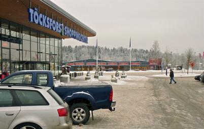 16 januari 2010 - Töcksfors Shoppingcenter och coop EXTRA bildar en handelsplats utanför Töcksfors centrum.