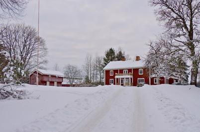 19 januari 2010 - Gamla folktandvården och tandläkarbostaden Högalid. Här finns nu Töcksfors fritidsgård.