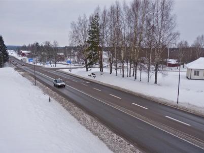 19 januari 2010 - Korsningen Västra Fågelviksvägen - E18 - Sveavägen vid Töcksmarks kyrka.