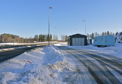 7 februari 2010 - Tullens kontrollplats vid nya E18 väster om Töcksfors.