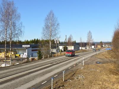 9 april 2010 - Företagen på industriområdet Ståltorpet ligger med skyltläge mot E18 vid östra infarten till Töcksfors.