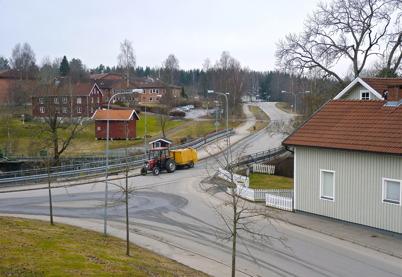 8 april 2010 - Töcksfors Renhållning sopar upp gruset från gatorna i centrala Töcksfors - ett riktigt vårtecken.