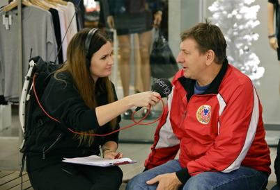Thore Berglund intervjuades om Töcksfors IF:s arbete vid Kölen sportcenter.