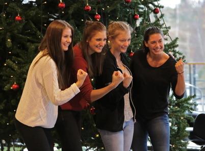 Linnea, Julia, Frida och Frida i Töcksfors IF:s A-lag Damer visade den Fighting Spirit som varit så framgångsrik.