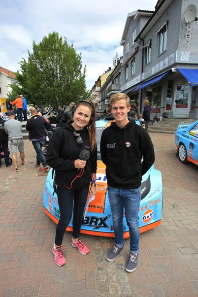 Det sändes även en bandad intervju med Rallycrossföraren Thomas Bryntesson från Töcksfors ( bilden är från hästkrafthelgen i Årjäng 2015 ).