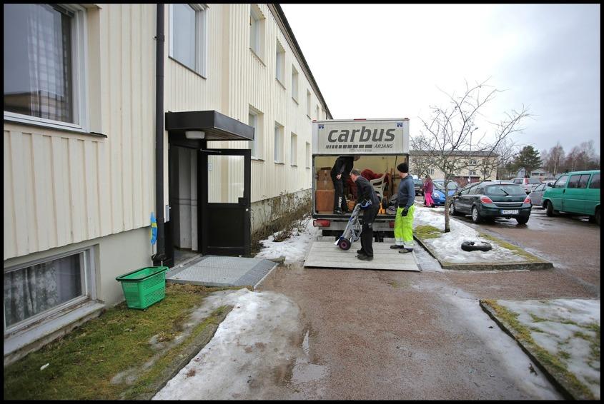 18 februari 2015 - Evakuering av lägenheter.