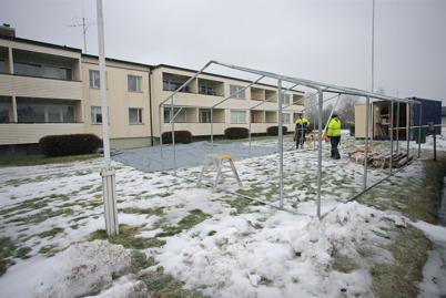 17 februari 2015 - Etablering av byggarbetsplats.