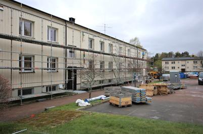 5 maj 2015 - Förberedelse för utvändig renovering.