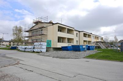 6 maj 2015 - Förberedelse för utvändig renovering.