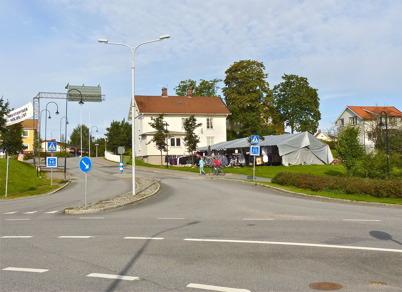 3 september 2010 - Tältet vid Nygård där den indiske klädförsäljaren har sin verksamhet.