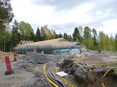 26 september 2010 - Årjängs kommun bygger ny förskola på tomten där den gamla skolvaktmästarbostaden låg tidigare.
