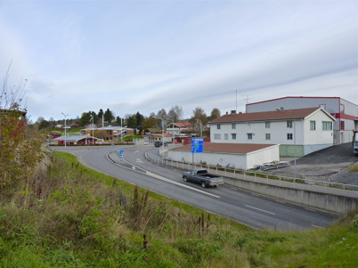 24 oktober 2010 - Korsningen Sveavägen - Älverudsvägen vid busscentralen.
