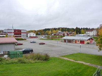 9 oktober 2010 - Utsikt från badhuset mot busscentralem.