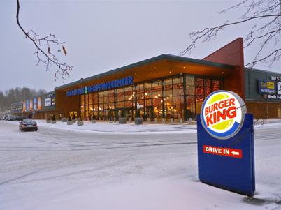 28 november 2010 - Shoppingcentret är smyckat inför julen.