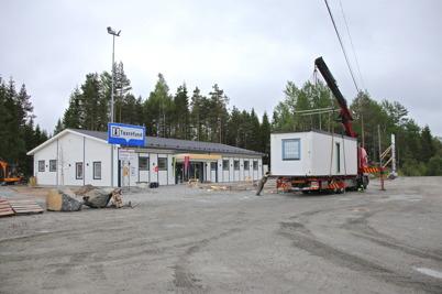 4 juni 2014 - lastning av byggmodul för vidare transport till Sunne.