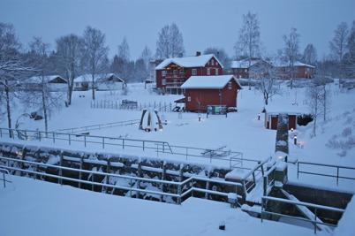 11 januari 2016 - Kanalparken låg inbäddad i snö.