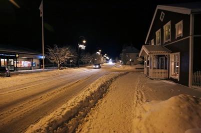 11 januari 2016 - Och i Töcksfors centrum var det vinter.